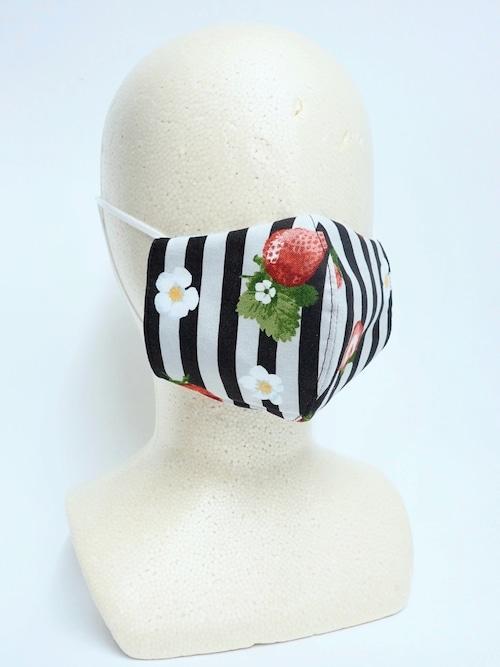 冷感 夏用 立体布マスク イチゴ柄