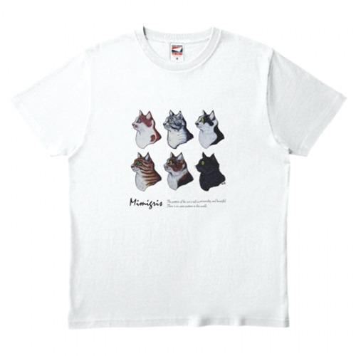 mimigris / 6cats Tシャツ《送料無料》