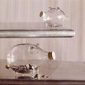 Glass Piggy Bank ガラス貯金箱 Small