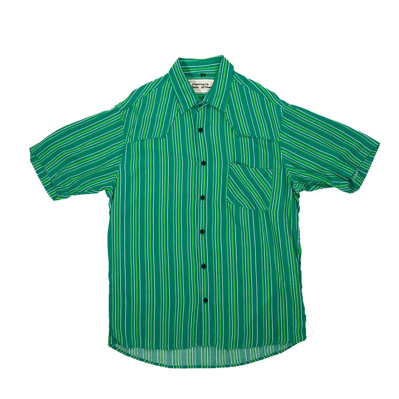 Caio Dias_Viscose Print Shirt:Green