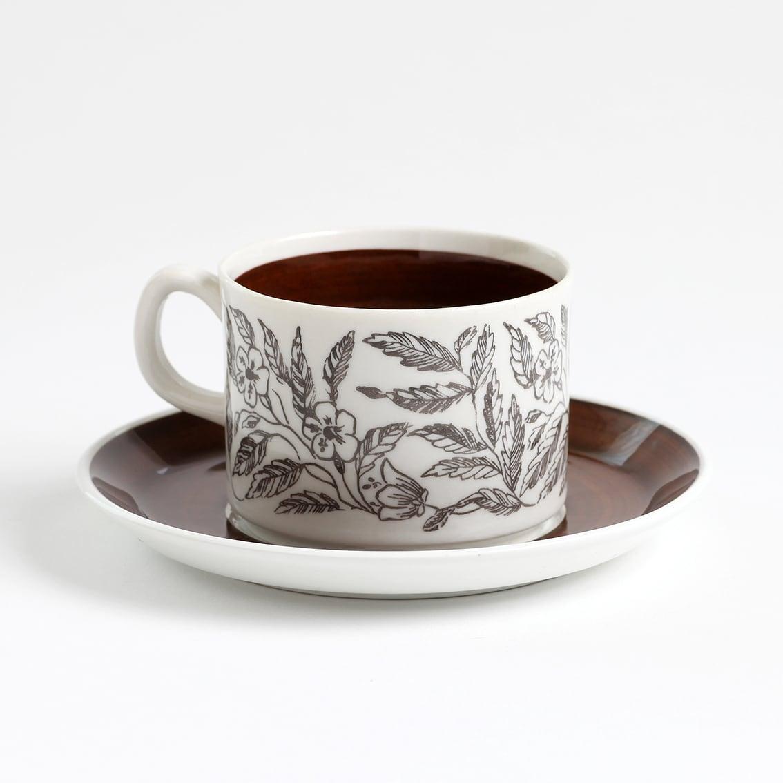GEFLE ゲフレ Fontana フォンタナ コーヒーカップ&ソーサー - 2 北欧ヴィンテージ ★わけあり★
