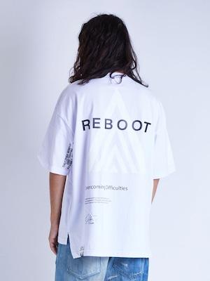 EGO TRIPPING (エゴトリッピング) REBOOT TEE リブートTシャツ / WHITE 663814-00