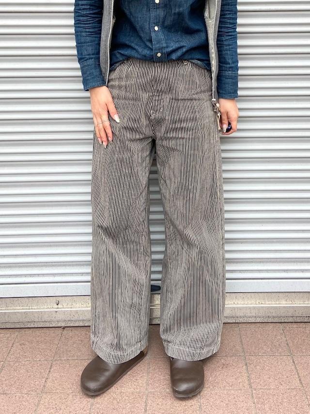 【ONEWASH】タックワイドパンツ