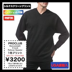 PROCLUB Heavyweight V-neck Pullover Sweater  在庫限り (品番146US)