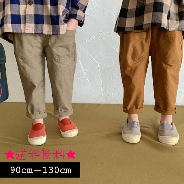【90cm-130cm】韓国ファッション☆カジュアルパンツ  (396)