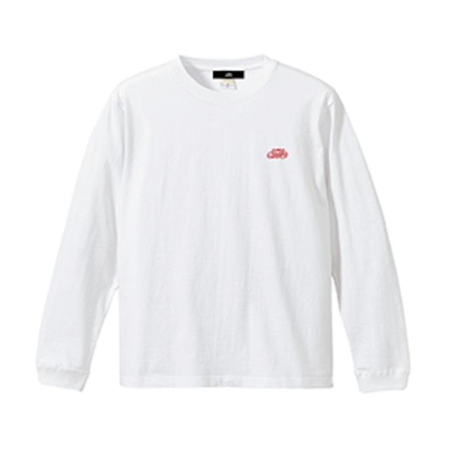 ロゴ刺繍 長袖Tシャツ / ホワイト | SINE METU