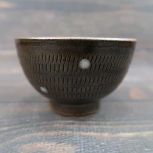 小石原焼 湯呑 トビカンナ茶 ドット模様 上鶴窯