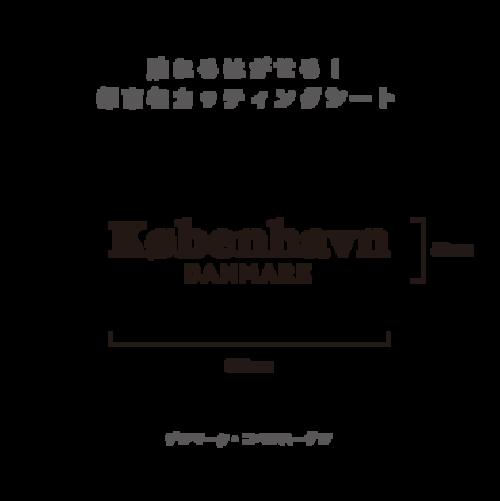 貼れる!はがせる!!都市名カッティングシート「Kobenhavn」