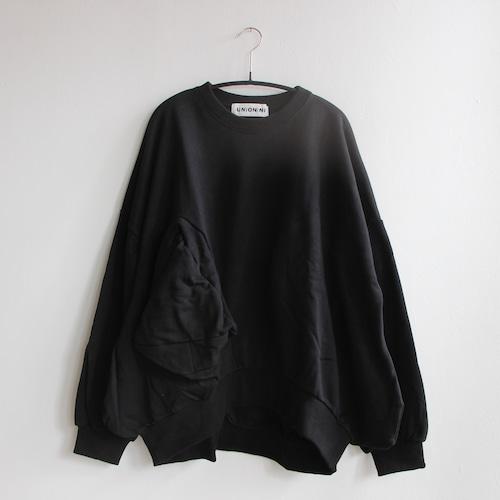《UNIONINI 2021AW》◯△ sweat shirt / black / 大人S・M