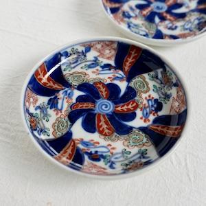【30541】 伊万里 ブルー花小皿 明治 / Imari Flower Plates  - Blue