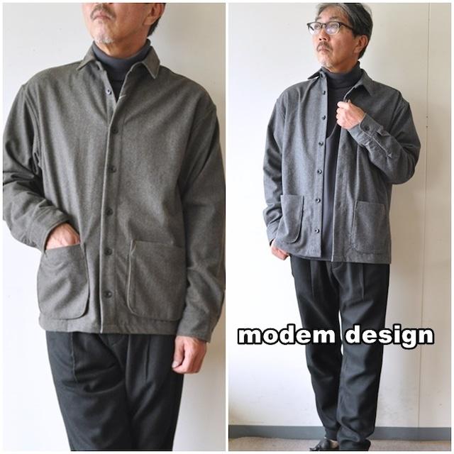 modemdesign  モデムデザイン ウールシャツジャケット 2006757 カバーオール ウールジャケット