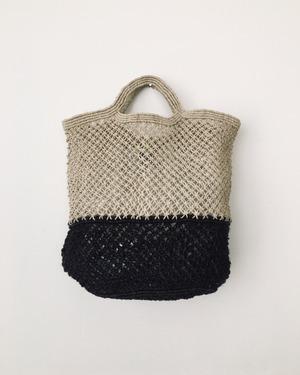 Jute macrame shopping bag Nat/Blk ショッピングバッグ