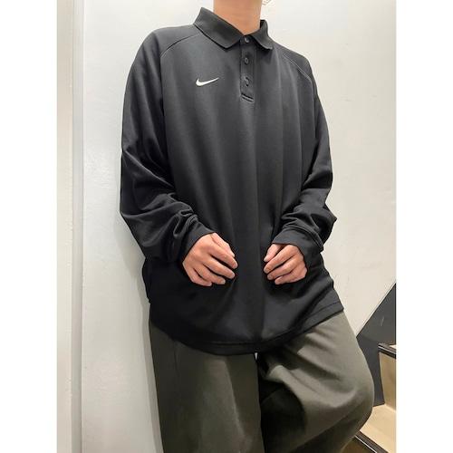 00's Nike l/s ジャージポロシャツ