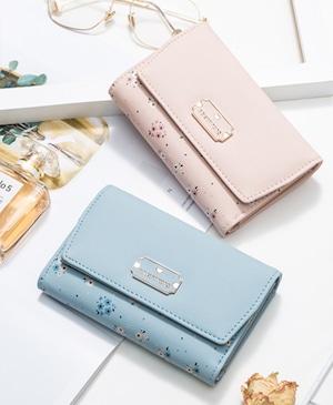 小花柄☆二つ折り財布