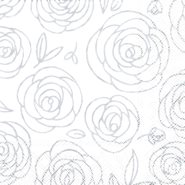 【Stewo】バラ売り2枚 ランチサイズ ペーパーナプキン Giuseppa パールシルバー