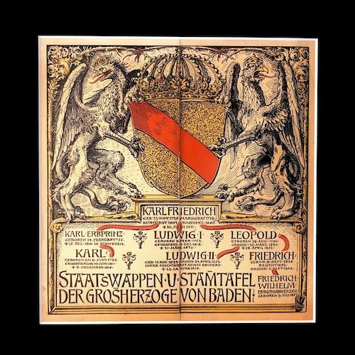 ミュンヘンカレンダー額装1901