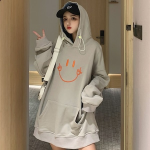 【トップス】プリントカートゥーンファッション韓国系bfフード付きパーカー42912040