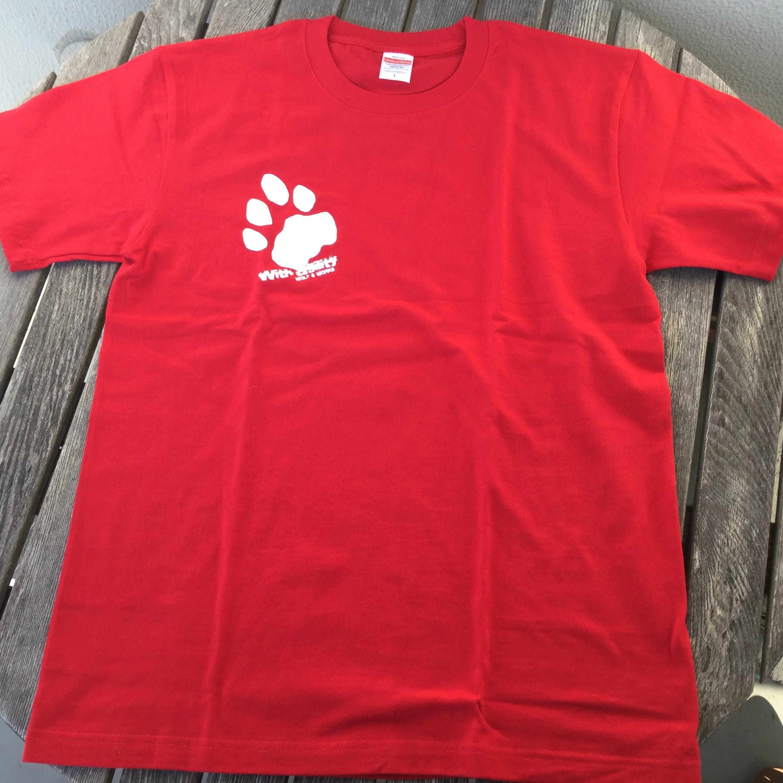 雪豹Tシャツ レッド