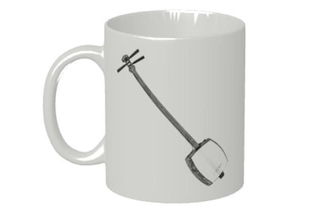 (名入れ無し)三味線のマグカップ