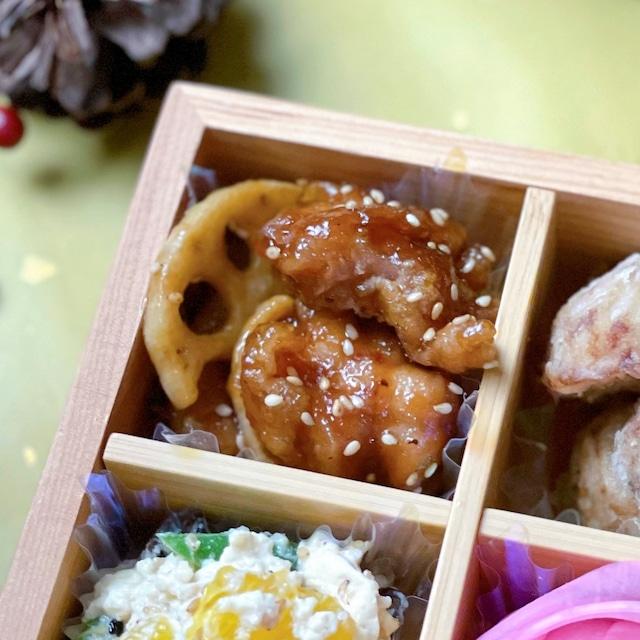 鶏もも肉と蓮根の甘酢炒め