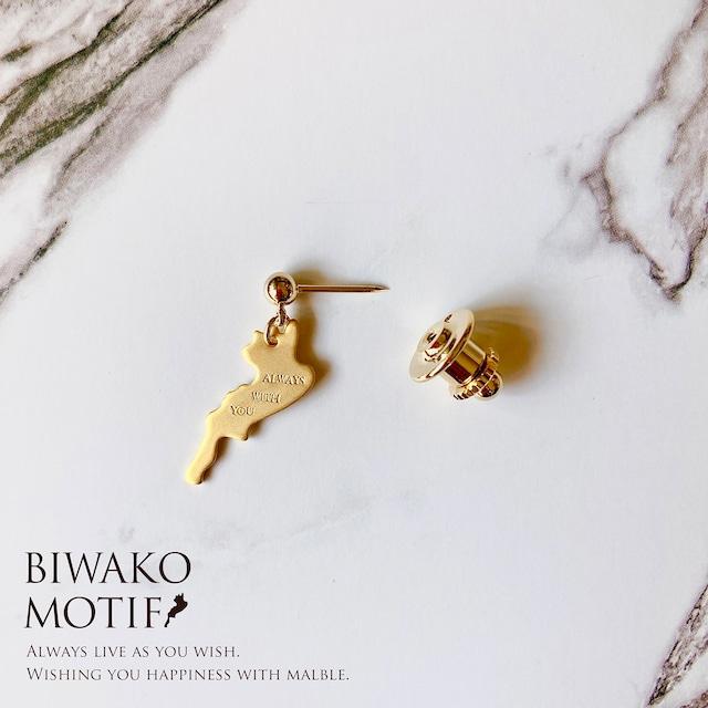 BIWAKO motif タイタック(ブローチ)
