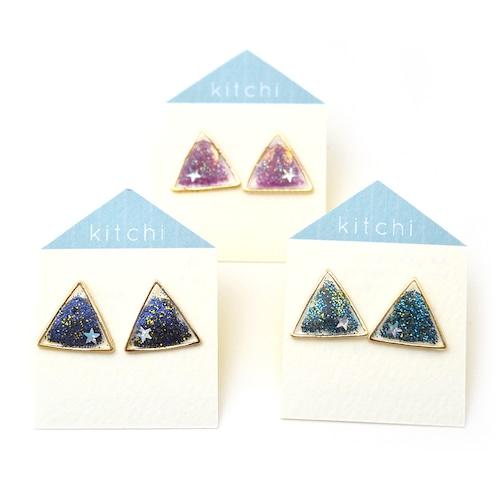kitchi 三角の星空ピアス