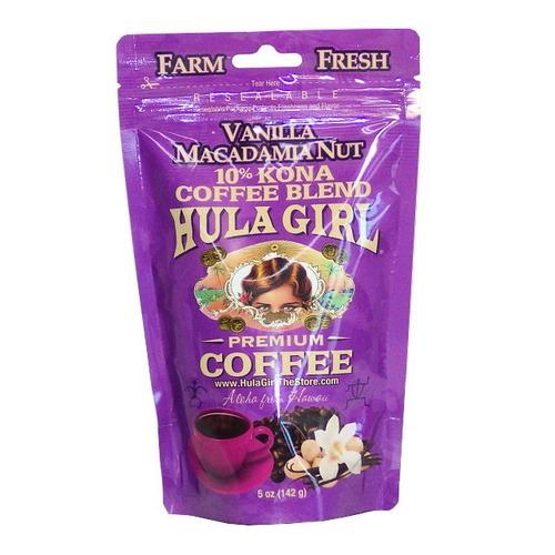 バニラマカダミアナッツ(挽き済みの粉) フラガール(5oz 142g) ハワイコナコーヒー フレーバーコーヒー