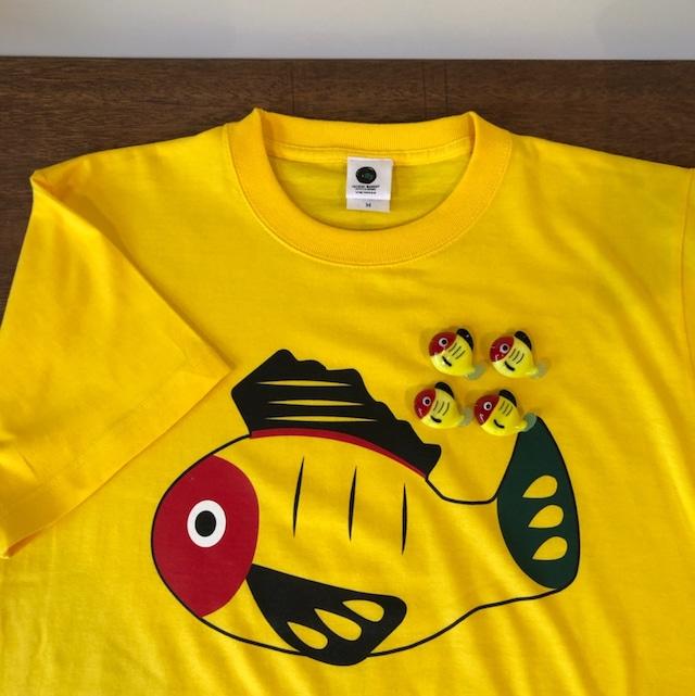 【送料無料】黄ぶなTシャツと箸置き4個のセット【疫病退散シリーズ】
