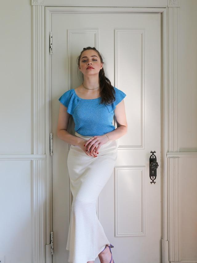 gingham mermaid skirt(natural)