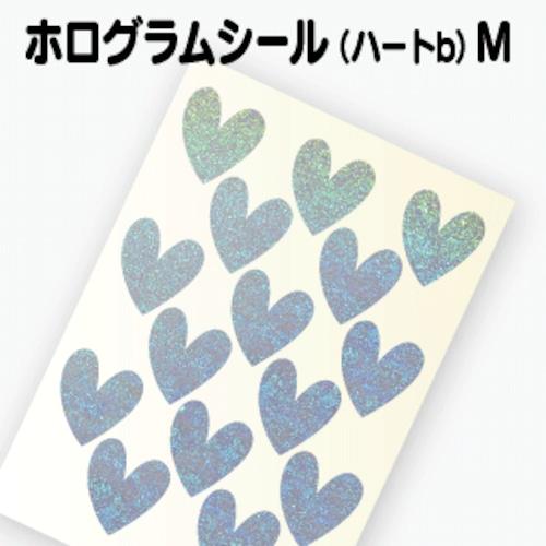 【ホログラム ハートシールB 】M(2.4cm×2.6cm)