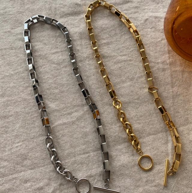 【翌日発送/数量限定】Random chain necklace LD0119