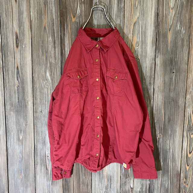 [Carhartt]inside check Bordeaux shirt jacket