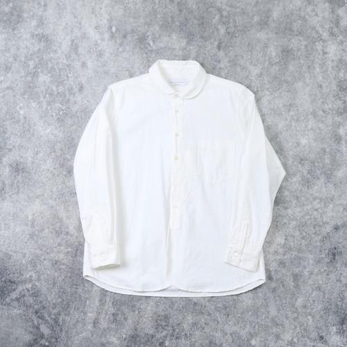 【MANUAL ALPHABET】SUPIMA OX ROUND COLOR SHIRT(WHITE)マニュアルアルファベット スーピマオックスラウンドカラーシャツ