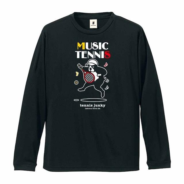 Music Tennis+8 長袖Tシャツ(TJ19515)/ブラック(2)・ホワイト(1)