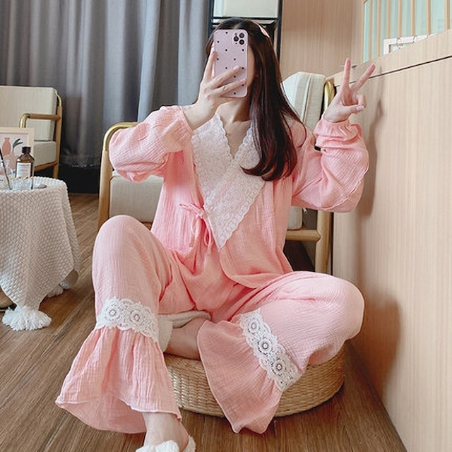 合わせタイプで可愛く楽ちん♡リラックスパジャマ