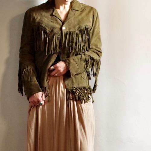 Deer skin Fringe Leather Jacket / フリンジ レザー ジャケット