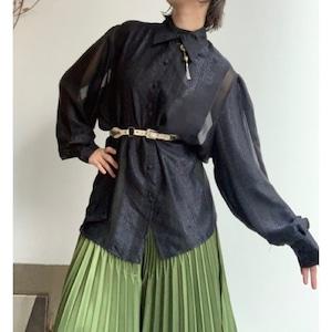 Vintage バルーンスリーブシースルーシャツ