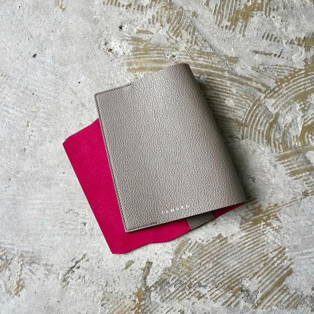 BOOK COVER(文庫サイズ)グレージュ × ルビー