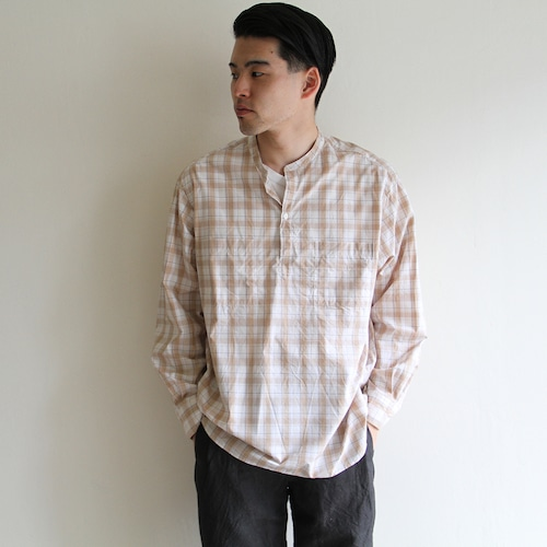 STILL BY HAND【 mens 】check pullover shirts