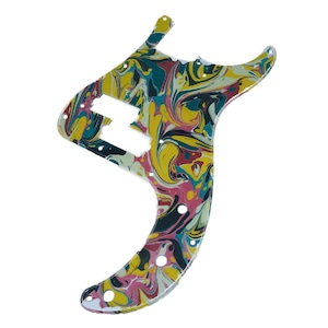 VARIOUS MARBLEIZED PICK GUARD SERIES - 50s P-type  Only One Design - ベース用マーブルピックガード pa2-1
