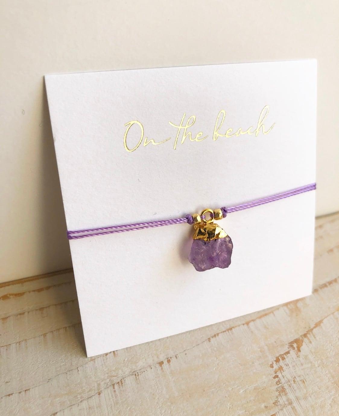 Birth stone bracelet ( Amethyst )  /  OBH-40