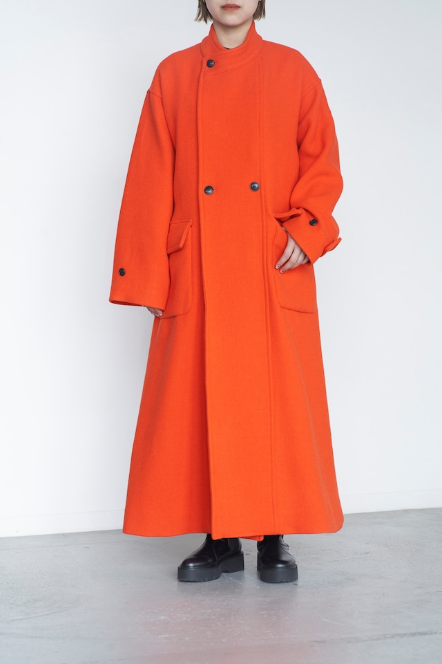 JANE SMITH BRITISH WOOL STAND COLLAER DOUBLE BREASTED COAT