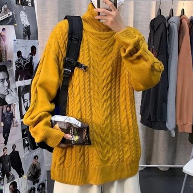 【メンズファッション】おしゃれ度高め 長袖 ニット  レトロ ハーフネック セーター53914989
