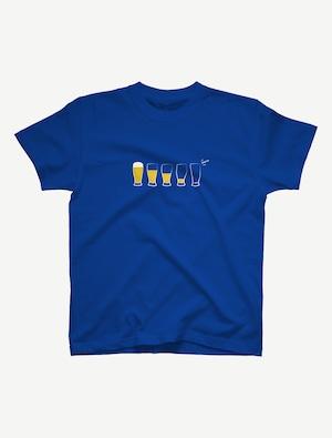 【モア・ビア】Tシャツ(ロイヤルブルー)