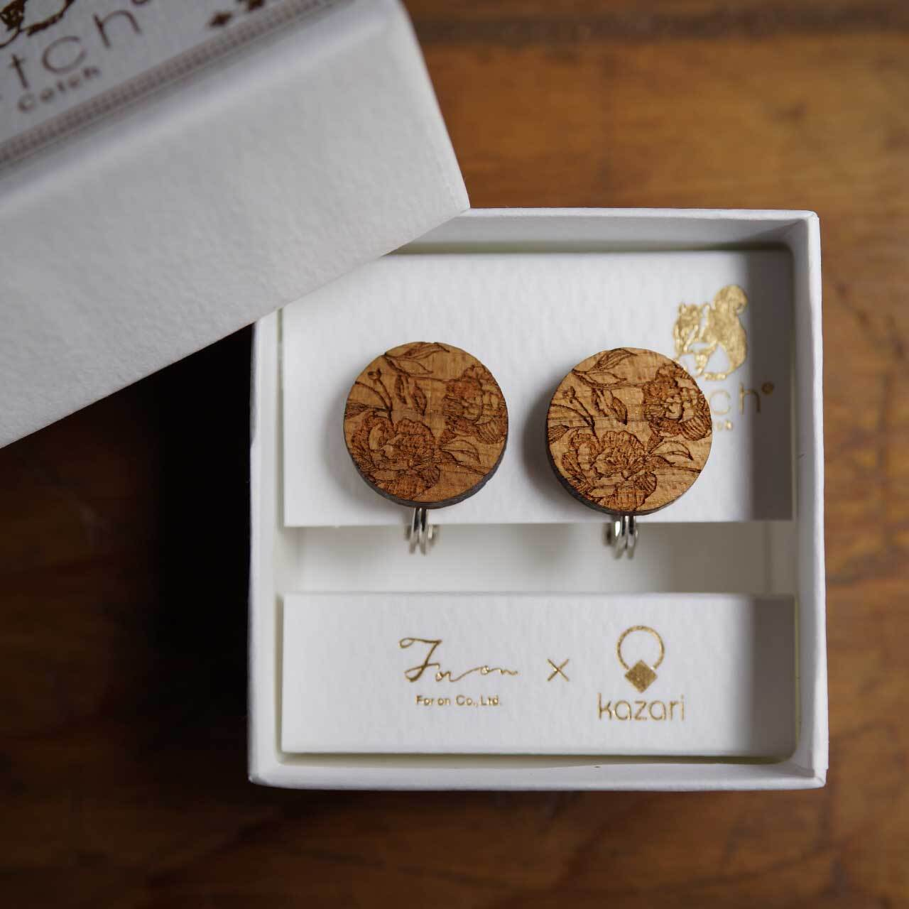 peony / 牡丹(Pierced Earring)