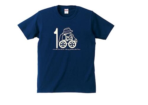 亘理町訪問100回記念 Tシャツ  / ネイビー・ホワイト