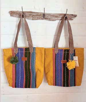 FEDE Sahara Colorful Tote Bag + Verde