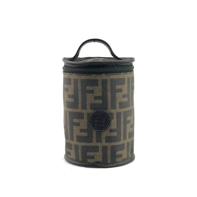 FENDI フェンディ ズッカ ハンドバッグ ミニバッグ ハンドポーチ 筒形 ブラウン ブラック vintage ヴィンテージ オールド