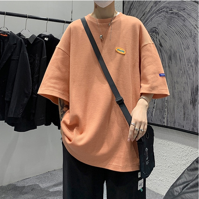 《即納》【アウトレット】半袖ワッフルTシャツ