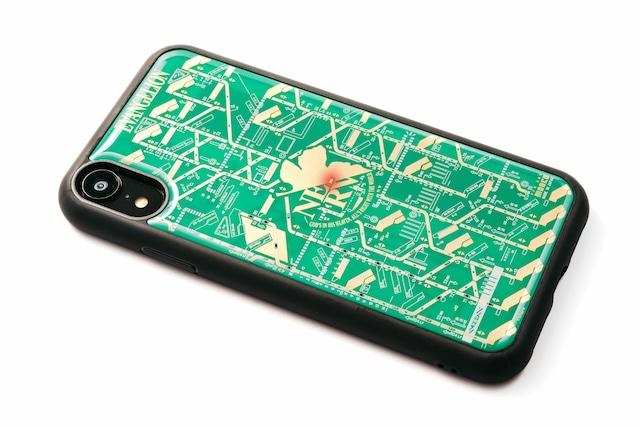 FLASH NERV iPhone XRケース 緑【東京回路線図A5クリアファイルをプレゼント】